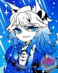 Starry Fox by AmalaAzula