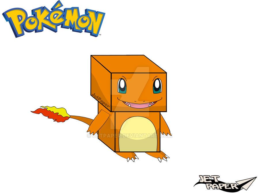 A Continuacion Vamos Con Uno De Los Pokemon Mas Clasicos Y Conocidas Para Armar Papel Es El Papercraft Charmander Tienes Las Piezas