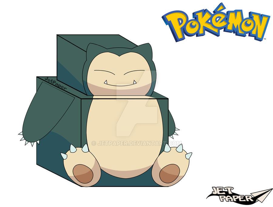 figura de papel de snorlax � pokemon � manualidades de papel