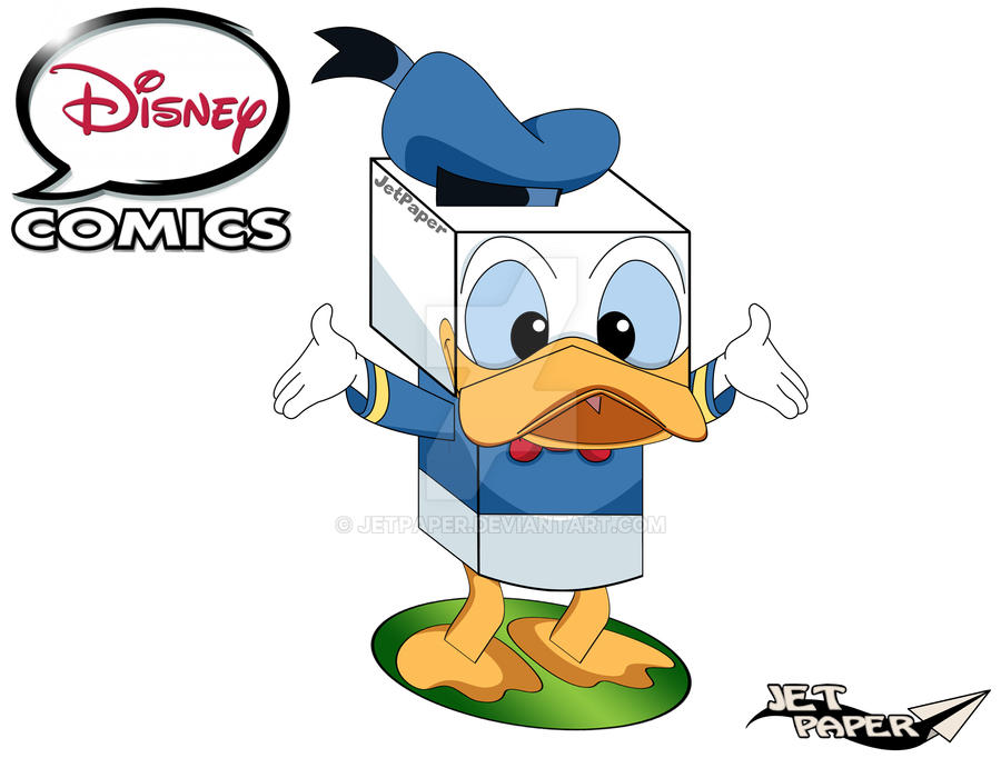 Donald Duck 3D DISNEY COMICS By JetPaper