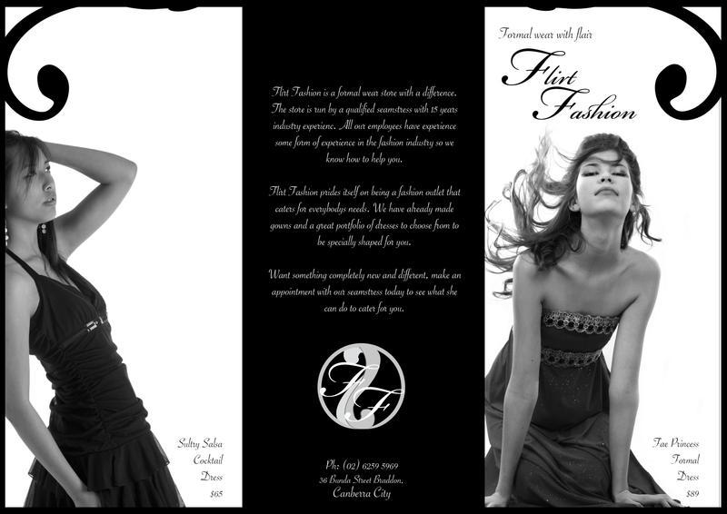 Flirt Fashion Brochure By Nicolewkonigs On Deviantart