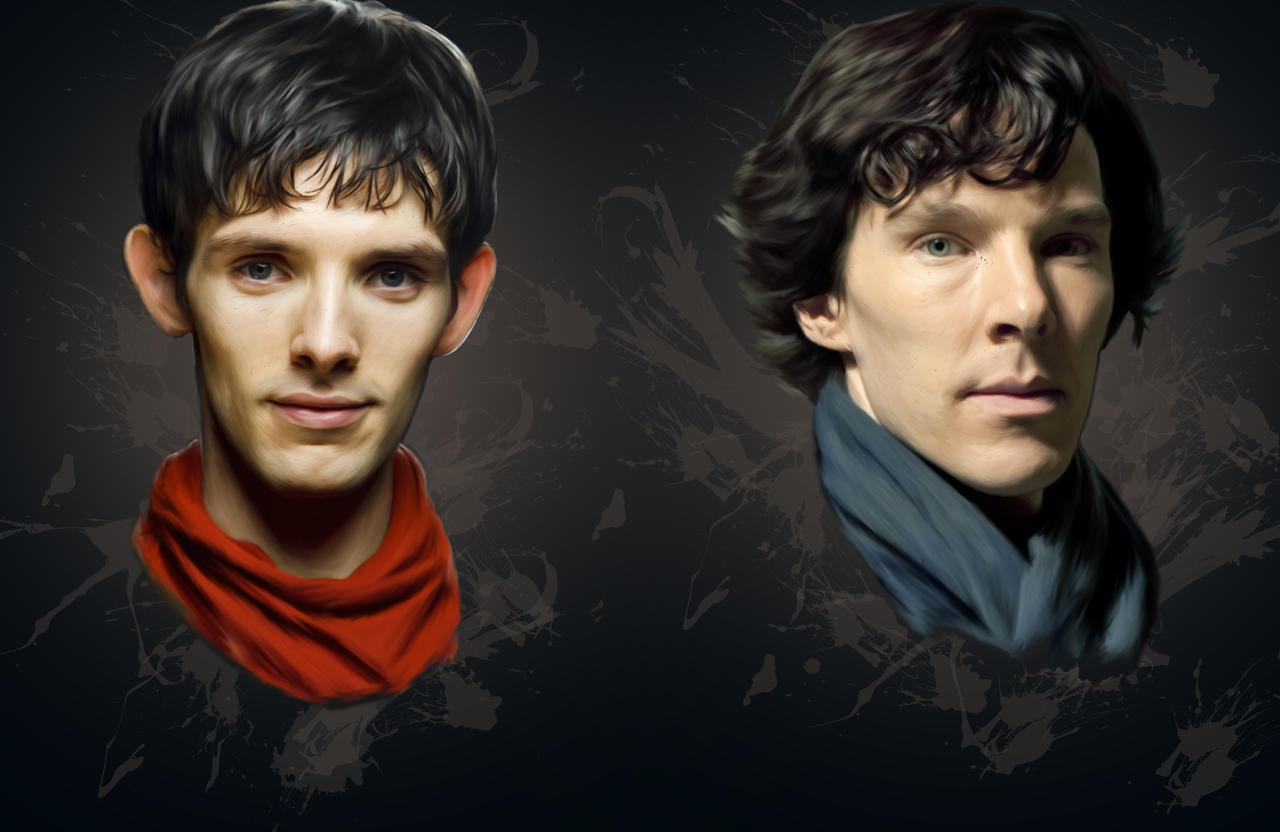 Cheekbones (Merlin and Sherlock) by Nadia-Ch