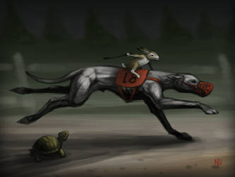 The Tortoise and the Hare (and the Greyhound) by nilwilnil