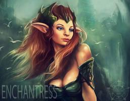 Enchantress Dota 2 by RoseberriesART