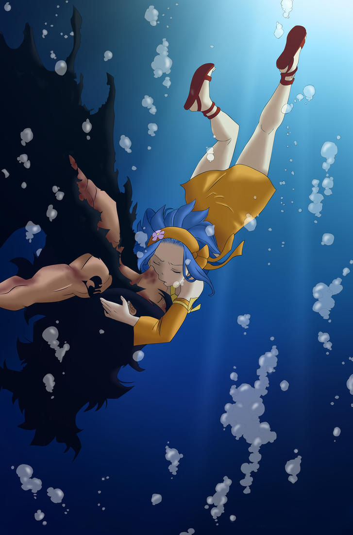 Gajeel and Levy Kiss - Fairy Tail 396 by Andrea2ce on ...