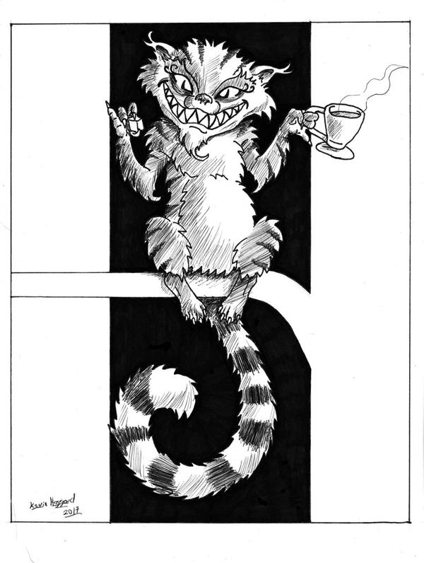 Inktober- Cheshire Cat by Haggard-Kevin