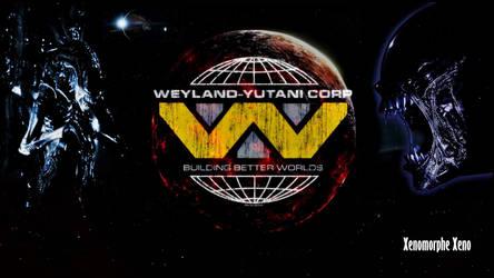 planet glowing stars space weyland yutani corp II by Xenomorphe-Xeno