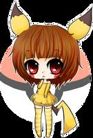 chibi pikachu girl by linkitty
