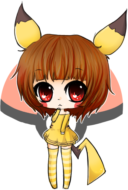 Chibi Pikachu Girl By Linkitty