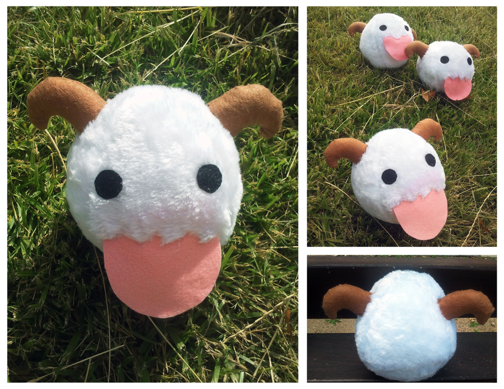 Poro plushie - League of Legends by linkitty