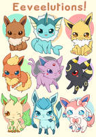 Eeveelutions! by linkitty