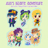 Chibi Jojo's bizarre Adventure characters
