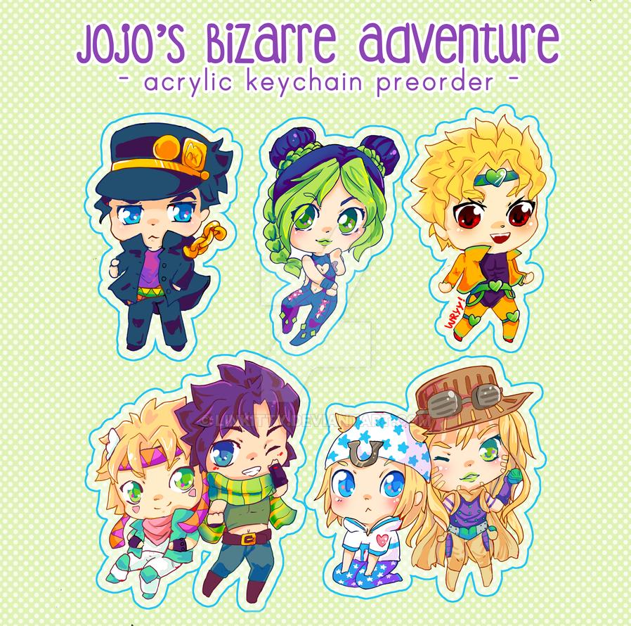 Chibi Jojo's bizarre Adventure characters by linkitty