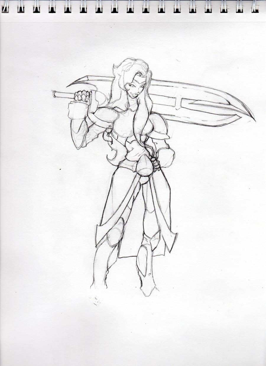 Lady Mica sketch by chozh3k
