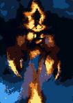 Evil Fire God Canguga V7 Pixel by demonyes