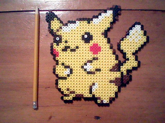 Pikachu Perler Bead Sprite by ThunderThor77