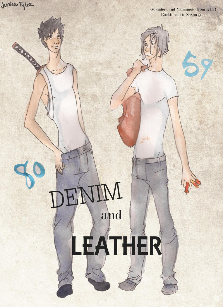Denim and Leather by GlassSpiderweb