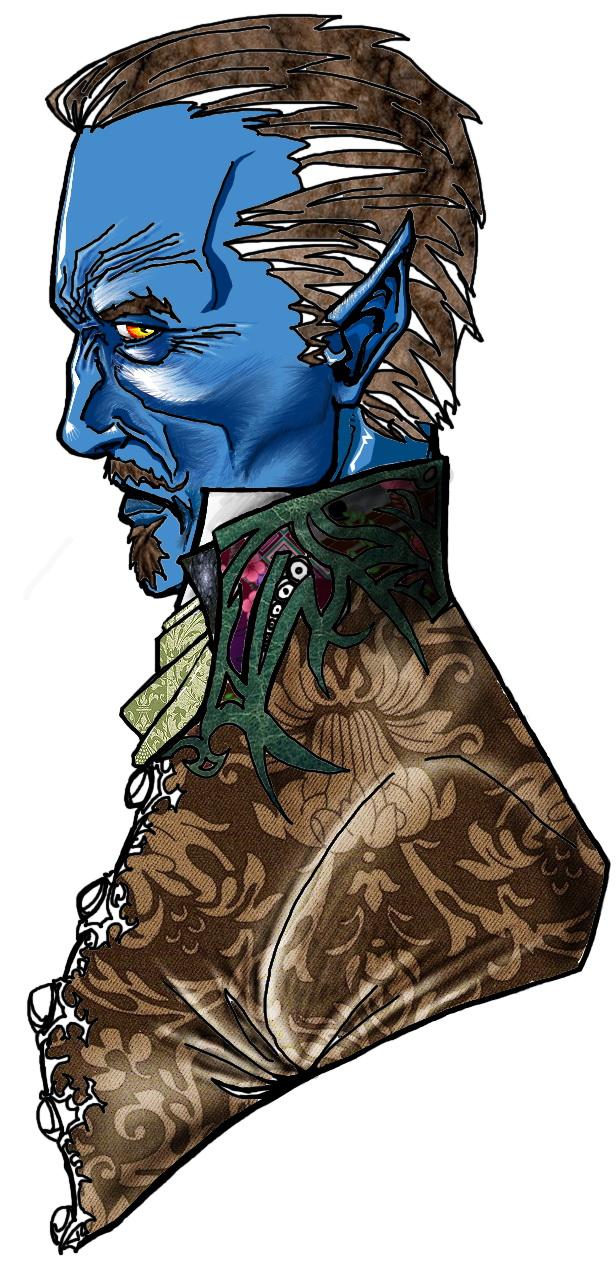 Blue elf noble - in progress by Marcigny