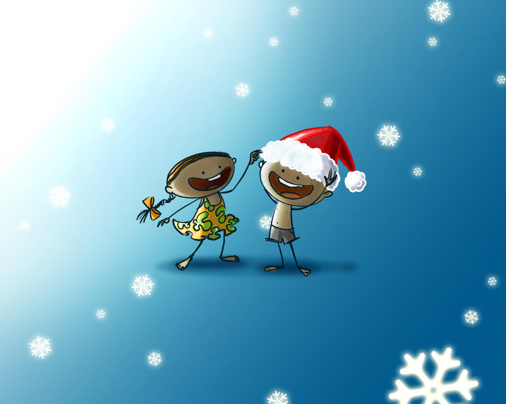 merry christmas by anoop-pc