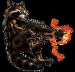 Guardian Rocket Raccoon Portrait Art