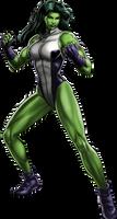 She-Hulk Portrait Art by cptcommunist