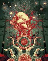 skulls by lunatiger13