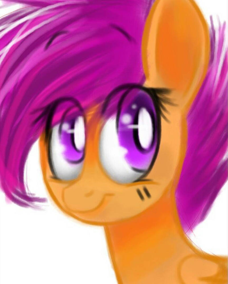 scootaloo Ipad drawing by lizfoxyartis