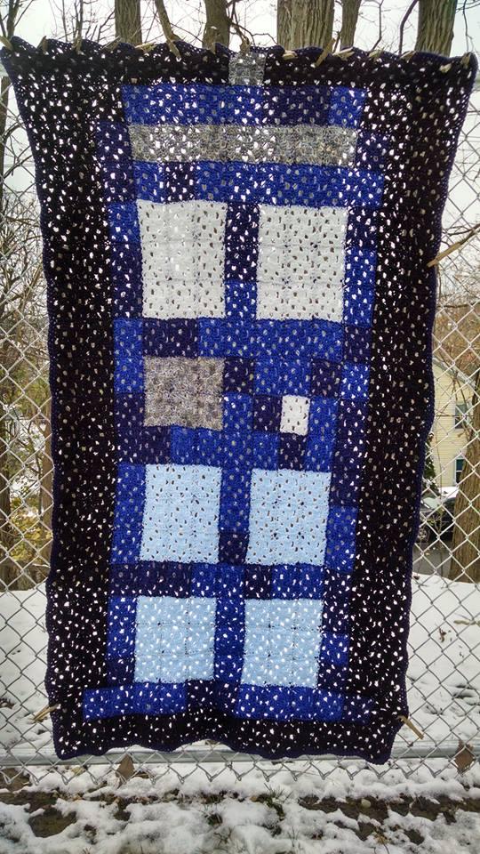 TARDIS blanket by PriestessRaven