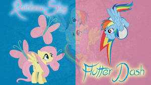 Flutterdash/RainbowShy Wallpaper