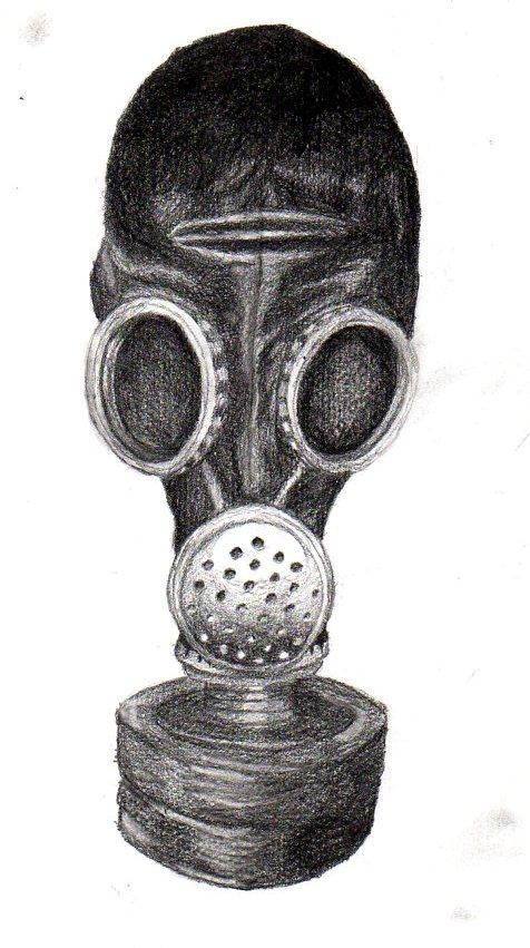 gas mask by trececielos