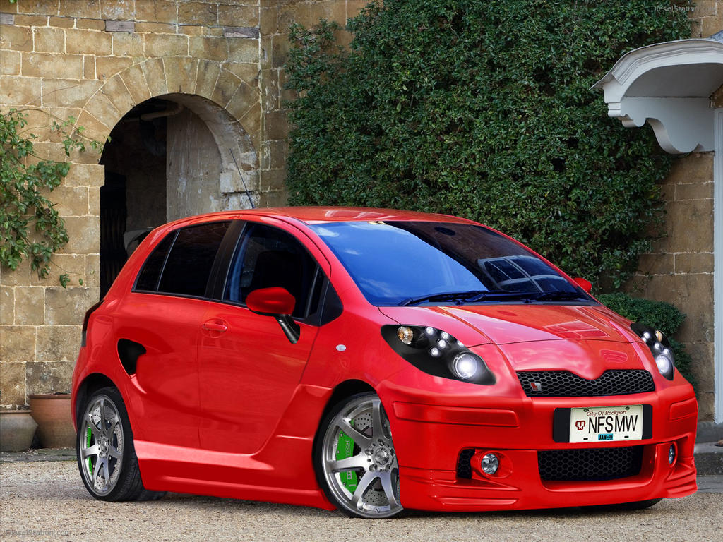 2009 toyota yaris 01 tuning finish by jdimensions27 on. Black Bedroom Furniture Sets. Home Design Ideas