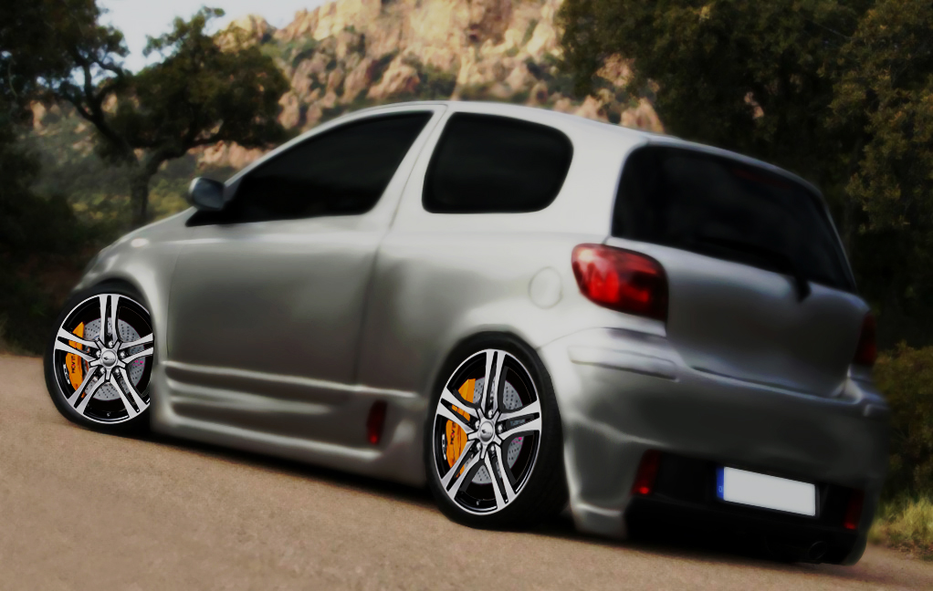 toyota yaris t sport 2003 tuning by jdimensions27 on. Black Bedroom Furniture Sets. Home Design Ideas