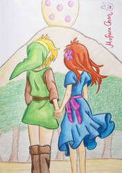 Link and Marin by MofuruChan