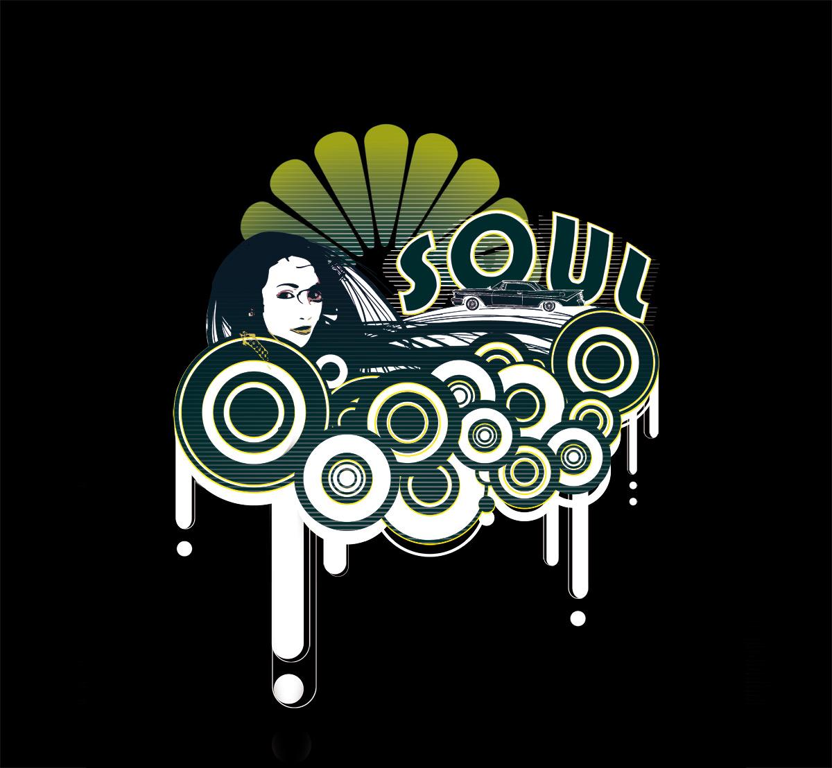 Design t shirt with illustrator - Soul Eyes Float Smoke