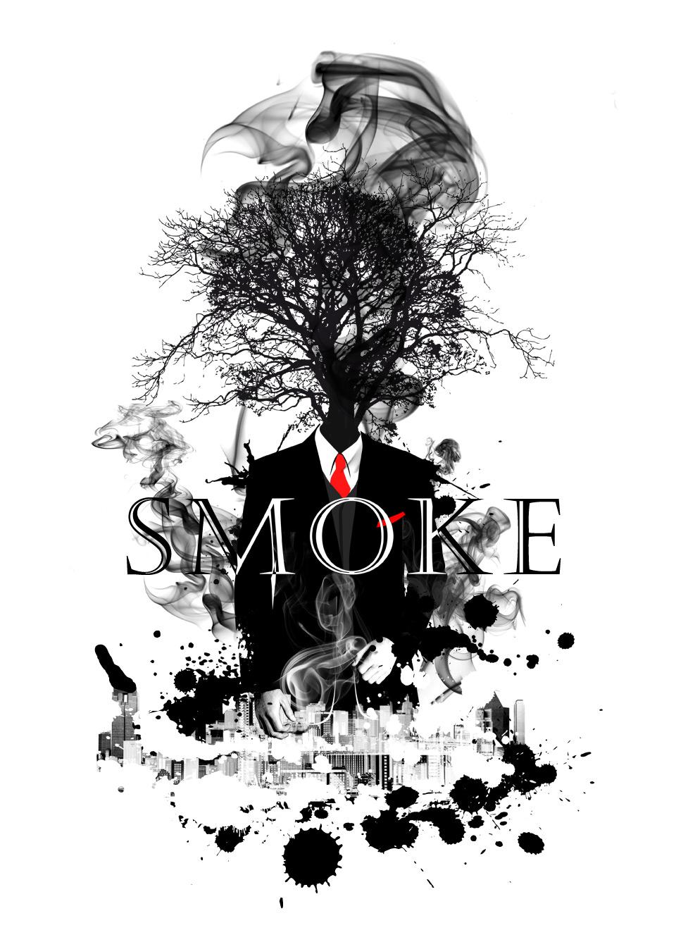 Design t shirt illustrator - Soul Eyes Float Smoke