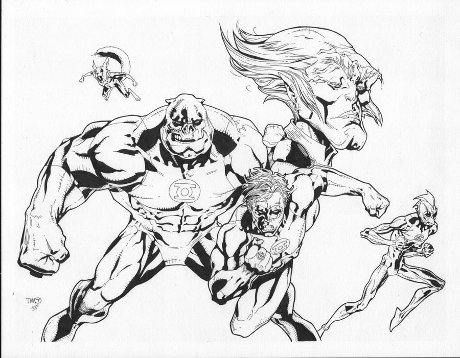 Green lantern corps inks by josephlsilver on deviantart for Green lantern coloring page