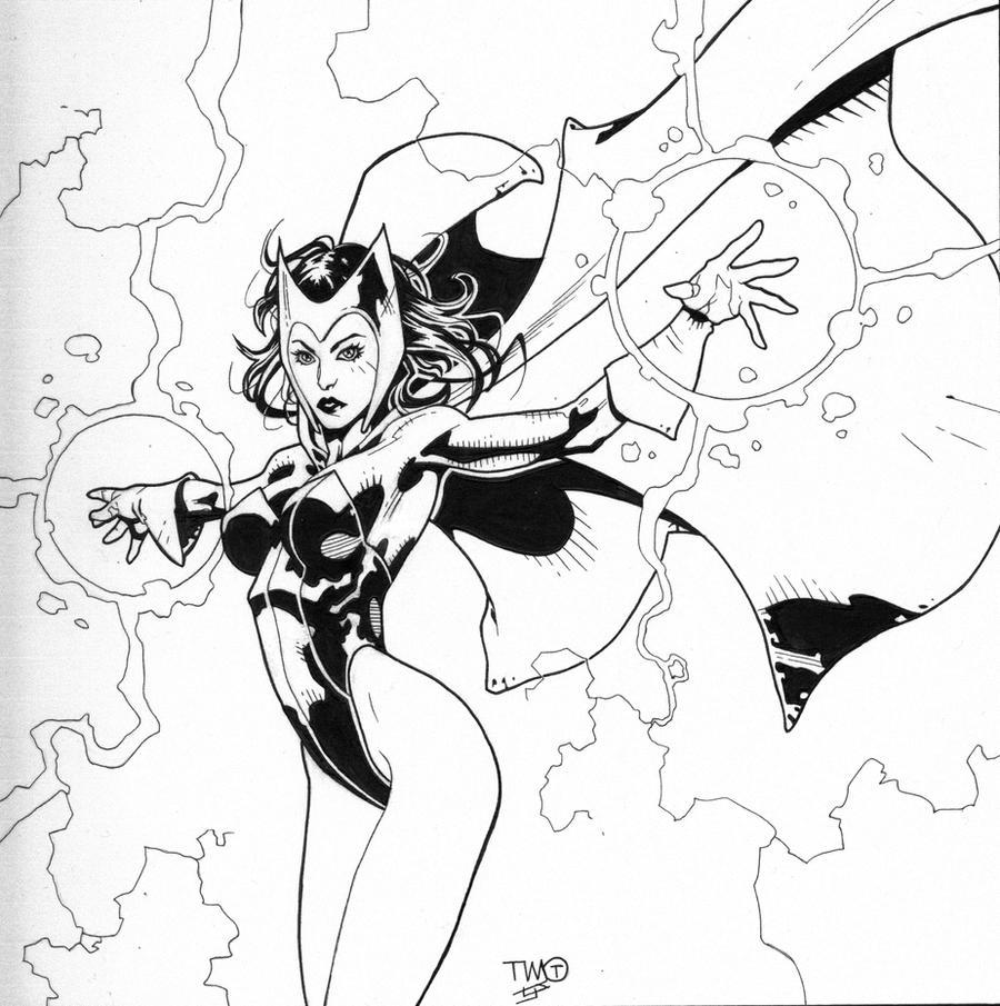 Scarlet Witch inks by JosephLSilver on DeviantArt