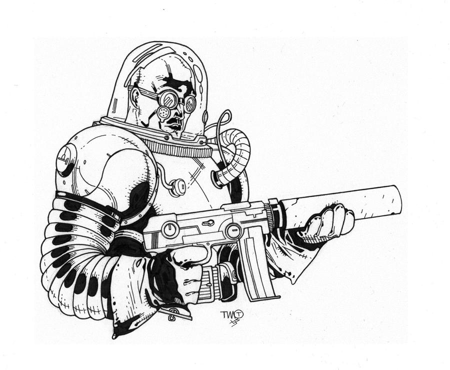 Mr. Freeze inks by JosephLSilver on DeviantArt
