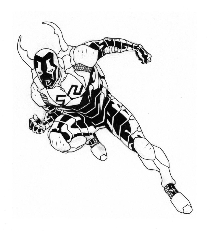 Dc Blue Beetle Coloring Pages Sketch Coloring Page Blue Beetle Coloring Pages