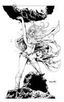 sjsegovia Supergirl inks by JosephLSilver