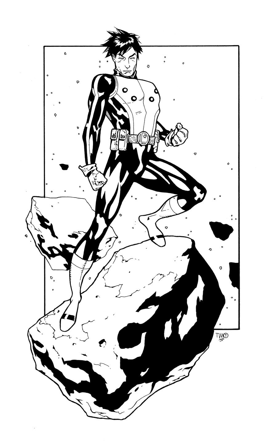 Cosmic Boy inks by JosephLSilver