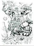 Spiderguile Spiderman Hulk inks