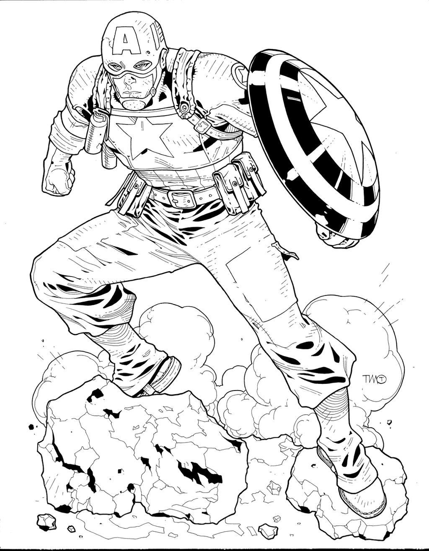 wwii captain america inks by josephlsilver on deviantart