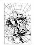 Joe Mad Wolverine Spiderman inks