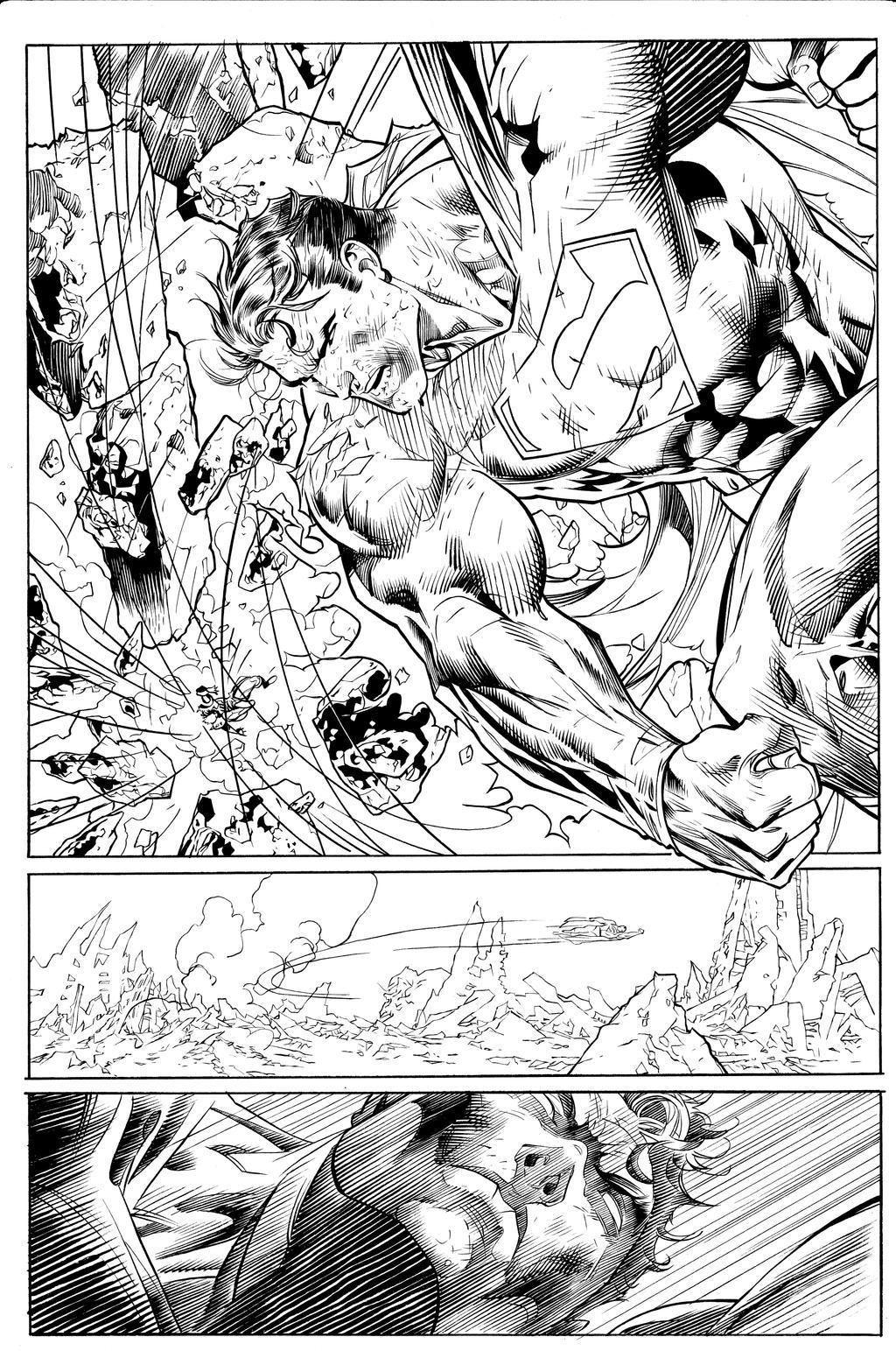 Jim Lee Superman inks by JosephLSilver