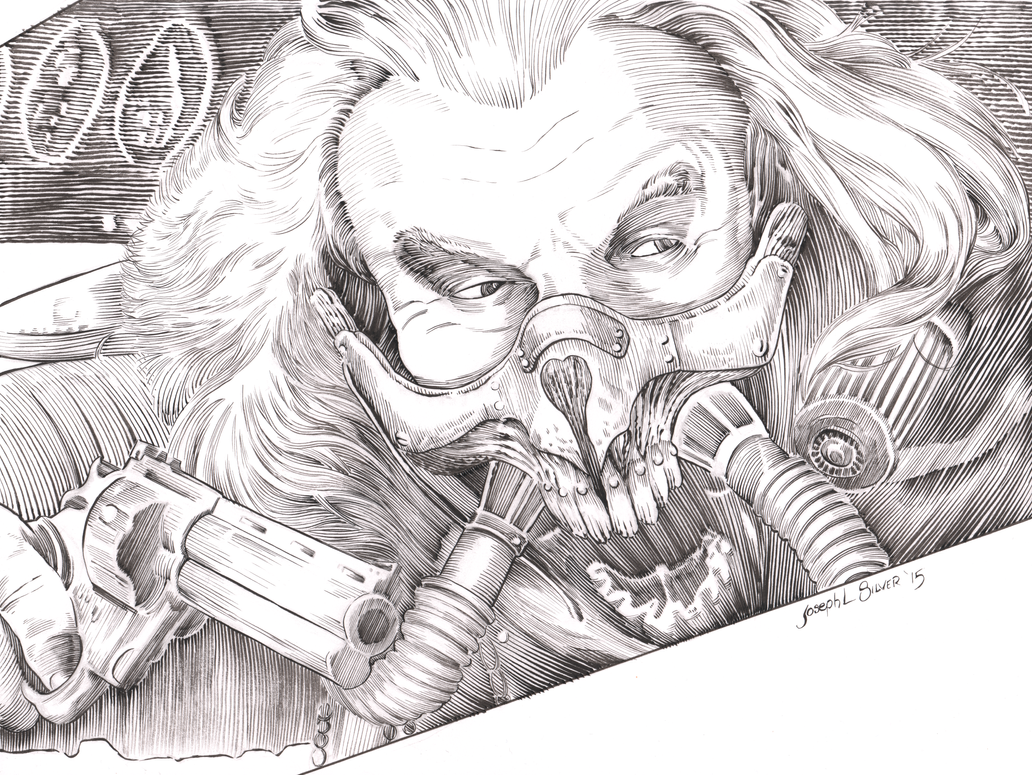 Immortan Joe inks by JosephLSilver