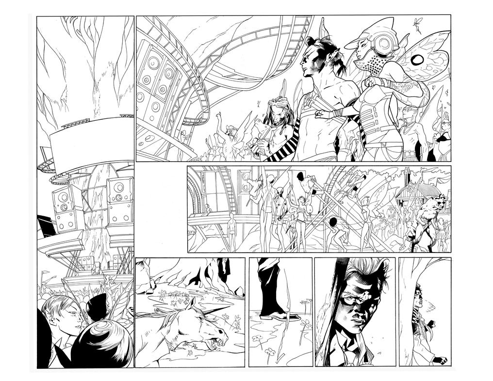 Hellblazer 10 pg 4 and 5 inks by JosephLSilver