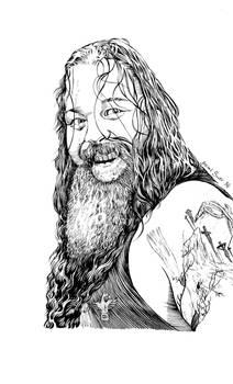 Bray Wyatt brush and ink