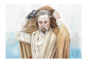 Luke Skywalker watercolor