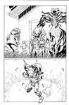 Animal Man 16 pg 5 inks by JosephLSilver